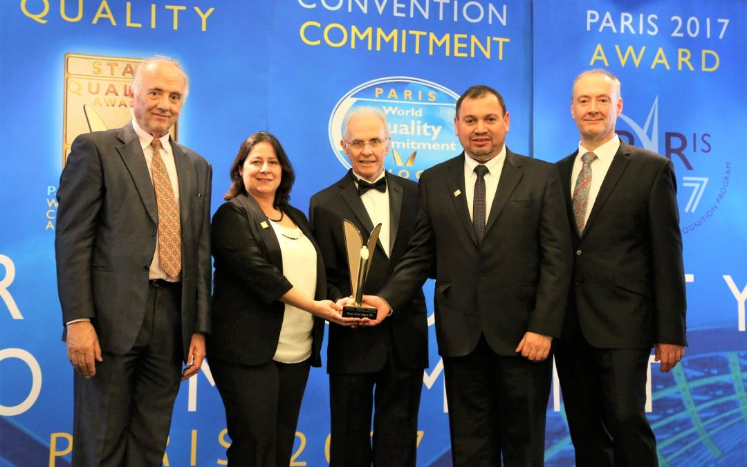 "Olmué Natura recibe el premio internacional ""World Quality Commitment"" en Francia"